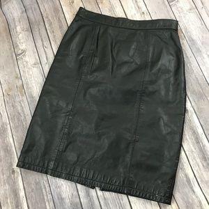 Dresses & Skirts - Classic Black Leather Skirt 8 Mini Sexy